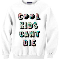 COOL KIDS CANT Die sweat sweater Tumblr blanc unisexe  women grey black white sweatshirt tumblr graphic size S M L one direction louis