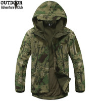 15 colors - Shark Skin Soft Shell Parka | Hunting Camo Season | Water- and Windproof Coat Jacket