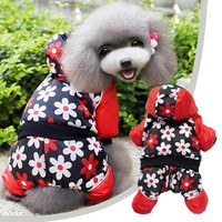 Dog Winter Coat Pet Clothes Camouflage Style Polyester Cotton Dogs Jacket Flower Waterproof Pet Puppy Supplies