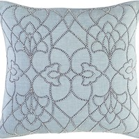 Dotted Pirouette Throw Pillow Blue, Blue