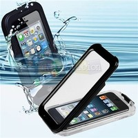 CyberTech 25ft Waterproof Shockproof Dirt Proof Silicon Touch Screen Case for iPhone 4 4S (Color: Black)