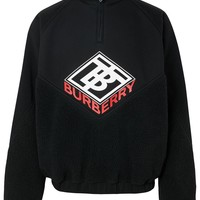 Half-Zip Neoprene Future Logo Pullover by Burberry