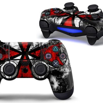 Resident Evil PVC Custom Sticker Case Protector For Sony for PS4 Playstation 4 Dualshock Controller