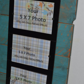 PIcture Frame shabby  3- 5x7 ... Plexi Glass Fronts