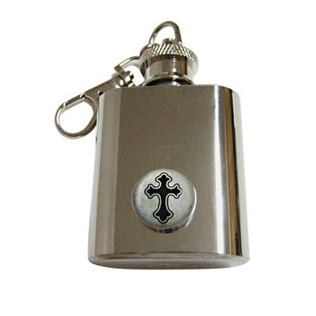 Gothic Cross 1 Oz. Stainless Steel Key Chain Flask