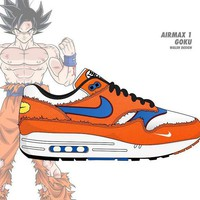 Dragon Ball Z x Nike Air Max 1 Retro Running Shoes Sneaker 908366-700