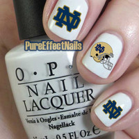 Notre Dame Nail Decals
