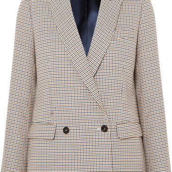 Paul & Joe - Double-breasted houndstooth tweed blazer