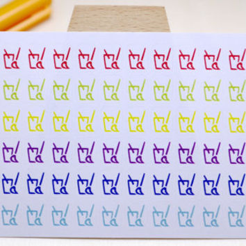 PLANNER STICKER || cleaning bucket || household || small rainbow colored | for your planner or bullet journal