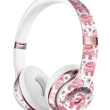 Sacred Red Elephant and Polkadots Full-Body Skin Kit for the Beats by Dre Solo 3 Wireless Headphones