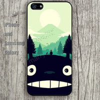 Totoro tree colorful iphone 6 6 plus iPhone 5 5S 5C case Samsung S3,S4,S5 case Ipod Silicone plastic Phone cover Waterproof