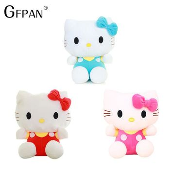 1PC 20cm High Quality Lovely Hello Kitty Popular Plush Toys  Stuffed Animal Doll Christmas Gift For Girls Baby Toy