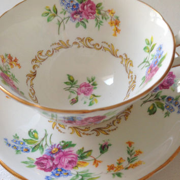 Vintage English Chelsea Fine Bone China Tea Cup & Saucer Tea Party