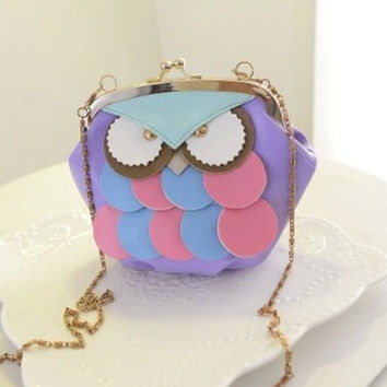 Korean Ladies Owl Cartoons Bags Stylish Fashion Vintage Strong Character Chain Shoulder Bags [6583220039]
