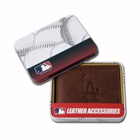Los Angeles Dodgers Leather Bifold Wallet (Brown)
