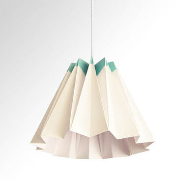 Jelly / Origami Paper LampShade-Turquoise and White