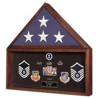 Burial Flag Medal Display case, Flag Document Holder Hand Made By Veterans