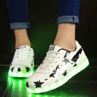 Summer Lightning Stylish Casual Sports Noctilucent Shoes [6734561543]