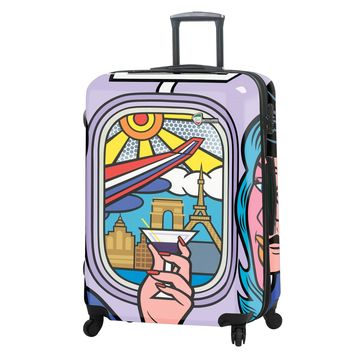 """Jozza """"First Class"""" Graphic Hardside Luggage Hardside 28"""" Spinner"""