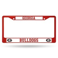Georgia Bulldogs Anodized Red License Plate Frame | UGA License Plate Frame | Georgia Auto Tag Frame