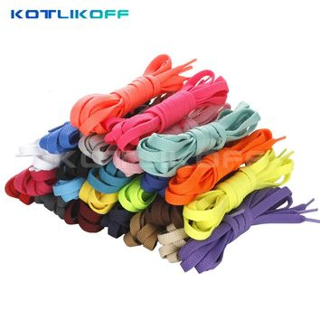 KOTLIKOFF 2017 HOT SALE 3 Pair Shoelace Athletic Sport Sneakers Flat Shoelaces Bootlaces Shoe laces Strings For Multi Color
