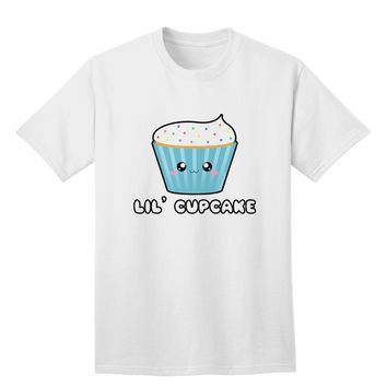 Cute Cupcake with Sprinkles - Lil Cupcake Adult T-Shirt by TooLoud