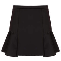 Fit and Flare Scuba Skirt - Black