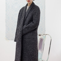 Oversized Wool Coat Charcoal