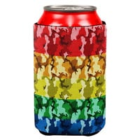 LGBT Camo Pride In The Military All Over Can Cooler
