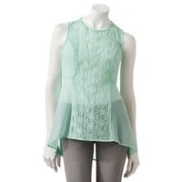 Lily Rose Eyelet Sheer Tank - Juniors
