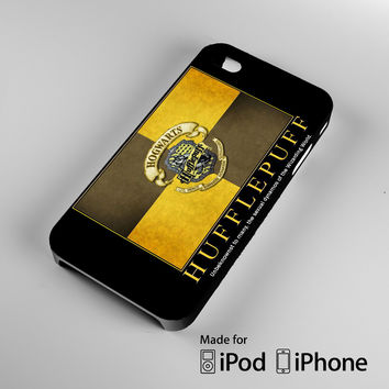 Harry Potter Hufflepuff Crest iPhone 4 4S 5 5S 5C 6, iPod Touch 4 5 Cases
