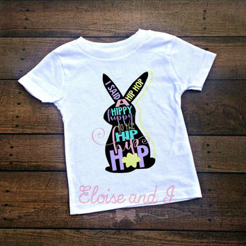 girls easter shirts, easter outfit baby girl, 1st easter outfit baby girl, baby girl clothes, toddler girl shirts, hip hop easter bunny