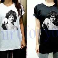 Xs S M L XL XXL Jim Morrison Point Thin Cotton Unisex White Black Men Women Short Sleeve Shirt Tshirt Tee