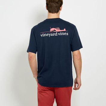Men's T-Shirts: Lobster Graphic Pocket T-Shirt for Men - Vineyard Vines