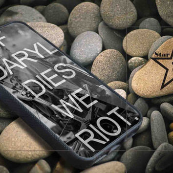 If Daryl Dies We Riot iPhone Case, iPhone 4/4S, 5/5S, 5c, Samsung S3, S4 Case, Hard Plastic and Rubber Case By Dsign Star 08