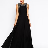ASOS RED CARPET Embellished Neck Superfull Maxi