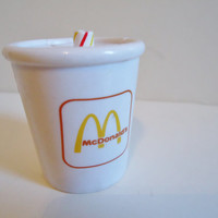 90's Collectible McDonalds Milkshake Drink Beverage Cup Dinosaur  transformers Happy Meal Toy from 1990
