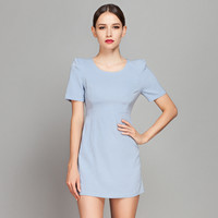 Casual Blue Mini Dress