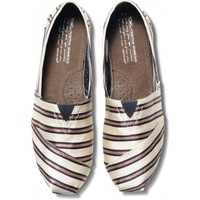TOMS+ Tabitha Simmons Pink Cricket Stripe Women's Classics