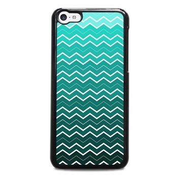 OMBRE TEAL CHEVRON Pattern iPhone 5C Case Cover