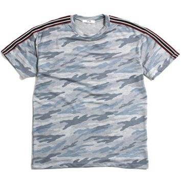 Taped Camo T-Shirt Blue