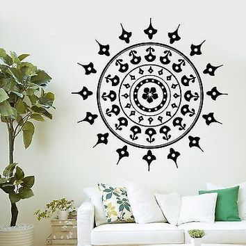 Wall Mural Mandala Mantra Chakra Meditation Yoga Om Vinyl Sticker Unique Gift (z2864)