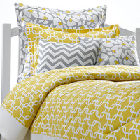 Yellow Metro Dorm Bedding + Sham - One Left