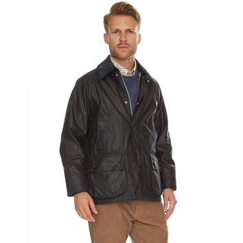 Classic Bedale Waxed Jacket in Navy by Barbour
