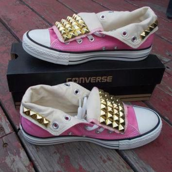 DCCKHD9 Custom Adult Studded Converse Shoes