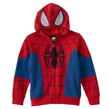 Spider-Man Full-Zip Costume Hoodie - Boys 4-7x (Red)