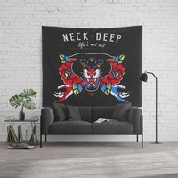 Neck Deep Wall Tapestry by lostanaw