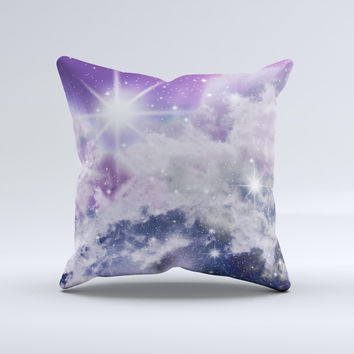 The Sparkly Space ink-Fuzed Decorative Throw Pillow