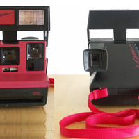 TESTED Polaroid Black & Red CoolCam Vintage Instant Film Camera Sun 600