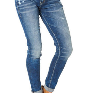Silver Jean Co. Girlfriend Skinny Cuffed Jean